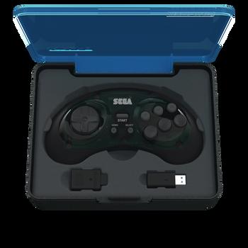 SEGA Genesis 8-button Arcade Pad 2.4GHz Wireless [Shadow]