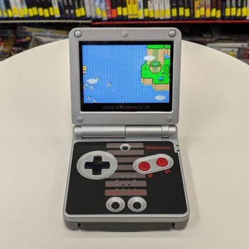 Nintendo GBA SP w/ IPS LCD [NES EDITION]