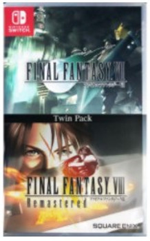 Final Fantasy VII & Final Fantasy VIII REMASTERED - TWIN PACK  (Nintendo Switch) [ENGLISH MULTI LANGUAGE] Japanese Cover Version