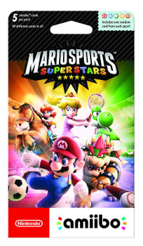 Mario Sports Superstars Amiibo cards 5-Pack