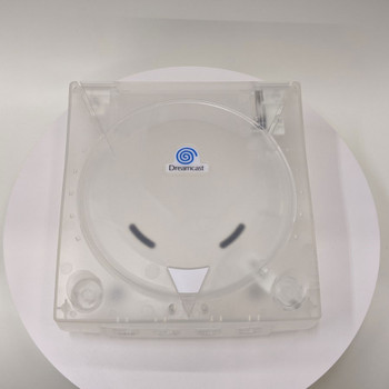 Dreamcast Replacement Shell - Clear White w/ Blue Decal (Sega Dreamcast)