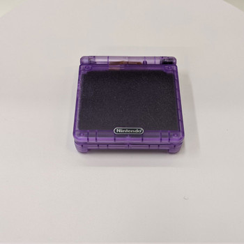 Nintendo GBA SP w/ IPS LCD [CLEAR ATOMIC PURPLE]