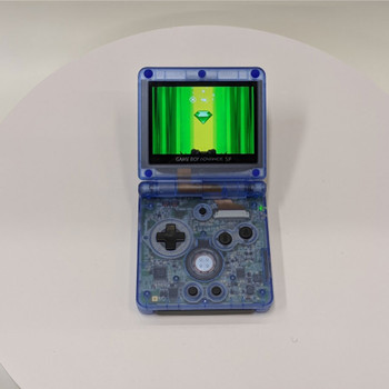 Nintendo GBA SP w/ IPS LCD [CLEAR BLUE]