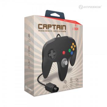 Captain Premium Controller - BLACK (Nintendo 64)