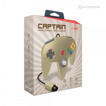 Captain Premium Controller - GOLD (Nintendo 64)