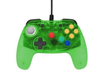 Brawler64 Controller - Green (Nintendo 64)