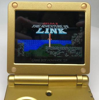 Nintendo GBA SP w/ IPS LCD [Zelda EDITION]