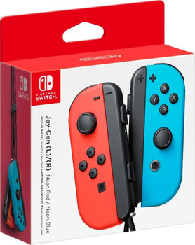 Joy-Con Wireless Controllers - Neon Red/Neon Blue (Nintendo Switch)