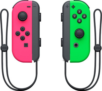 Joy-Con Wireless Controllers - Neon Pink/Neon Green (Nintendo Switch)