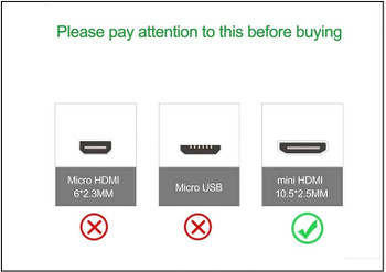 Mini-HDMI to HDMI Cable (10 Feet)