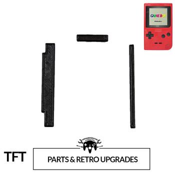 Gameboy Pocket TFT LCD CENTERING BRACKET - BLACK (GBP)