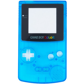 GameBoy Color Replacement Shell - PRECUT - Clear Blue(GBC)