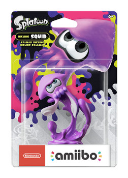 Purple Squid Splatoon 2 Amiibo - Japan Import