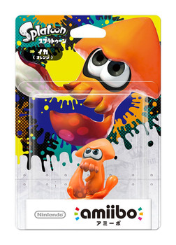 Orange Squid Splatoon 2 Amiibo - Japan Import