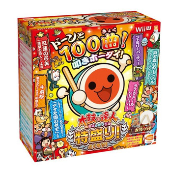 Taiko no Tatsujin: Tokumori! WiiU [Taiko Controller Bundle Set] (Includes Switch Controller adapter)