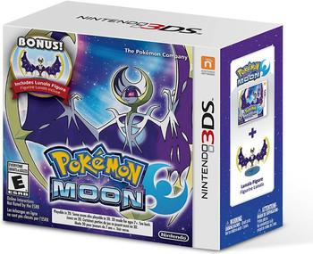 Pokemon Moon - Bonus Lunala Figure - Nintento 3DS