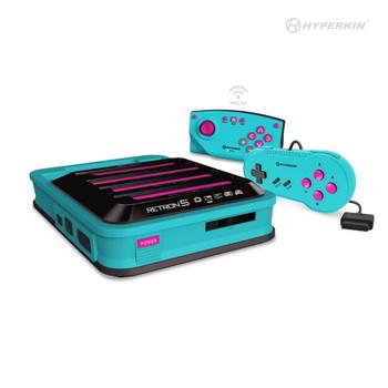 RetroN 5: HD Gaming Console For GBA®/ GBC®/ GB®/ Super NES®/ NES®/ Super Famicom™/ Famicom™/ Genesis®/ Mega Drive™/ Master System® (Hyper Beach) - Hyperkin