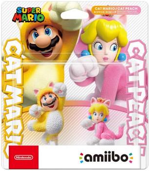 Amiibo Super Mario Series Figure Double Set (Neko Mario / Neko Peach) Japan