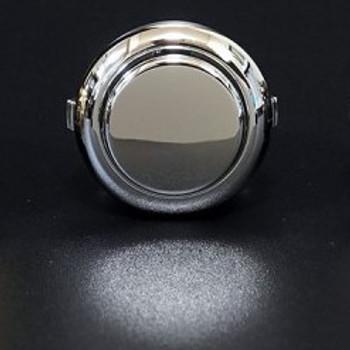 SANWA OBSJ-24 mm Pushbutton Metallic Silver
