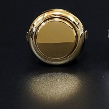 SANWA OBSJ-24 mm Pushbutton Metallic Gold