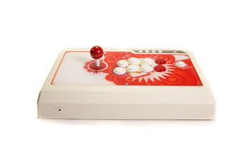 Qanba 4 Arcade Fight Stick Q4 Red and White Version