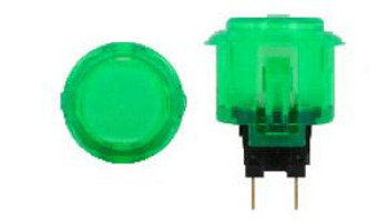 OBSC-24 GREEN, Sanwa 24mm Clear Buttons, VideoGamesNewYork, VGNY