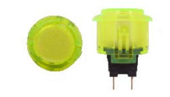 OBSC-24 YELLOW, Sanwa, 24mm Clear Buttons, VideoGamesNewYork, VGNY