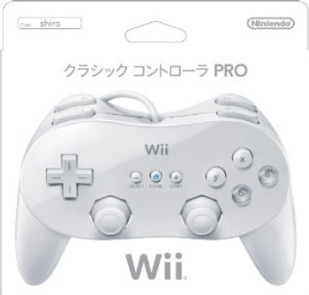WII CLASSIC CONTROLLER PRO WHITE