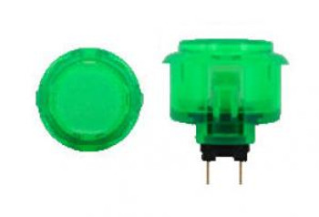 OBSC-30 GREEN, Sanwa, 30mm Clear Buttons, VideoGamesNewYork, VGNY