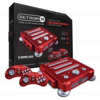 RetroN 3 - SNES/ NES/ Genesis Gaming Console (Vector Red)