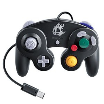 Nintendo GameCube Controller - Super Smash Bros - BLACK