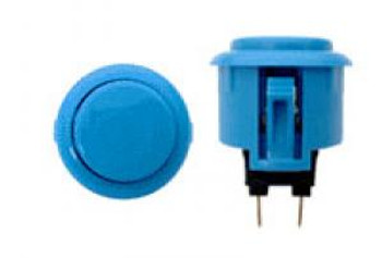 OBSF-24 LIGHT BLUE, 24mm Solid Button Colors, VIdeoGamesNewYork, VGNY
