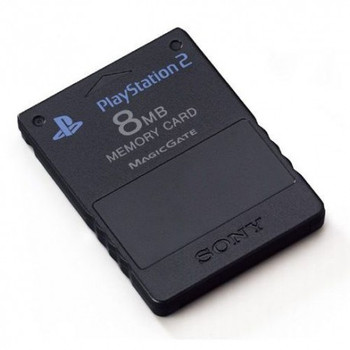 PlayStation 2 Official Sony 8mb Memory card - Black - USED (PlayStation 2)