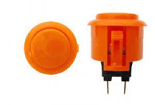 OBSF-24 ORANGE, 24mm Solid Color Buttons, VideoGamesNewYork, VGNY