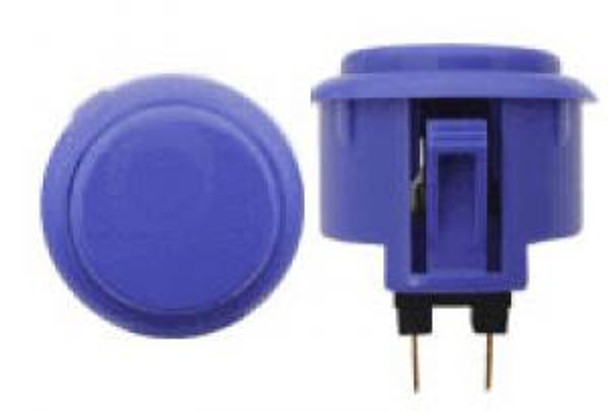 OBSF-30 BUTTON DARK BLUE, 30mm Solid Button Colors, VideoGamesNewYork, VGNY