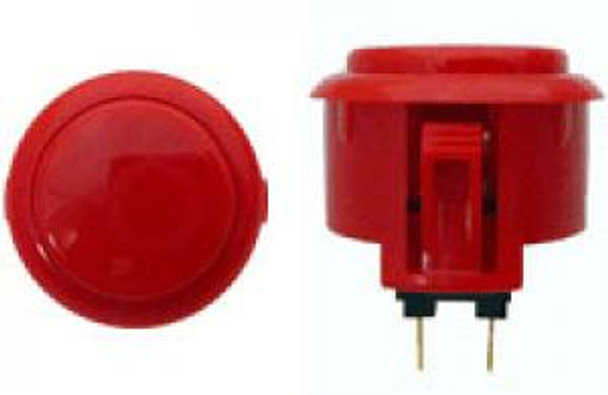 OBSF-30 BUTTON DARK RED, 30mm Solid Button Colors, VideoGamesNewYork, VGNY
