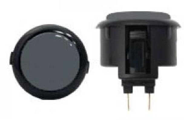 OBSF-30 BUTTON GRAY/BLACK, Sanwa Black Rim Buttons, VideoGamesNewYork, VGNY