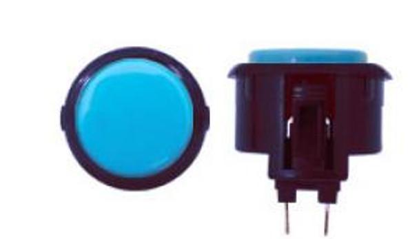 OBSF-30 BUTTON LIGHT BLUE/BLACK, 30-K Black Rim Buttons, VideoGamesNewYork, VGNY