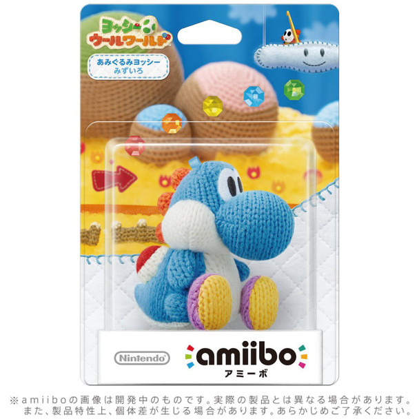 Blue Yarn Yoshi - Yoshi Woolly World Amiibo