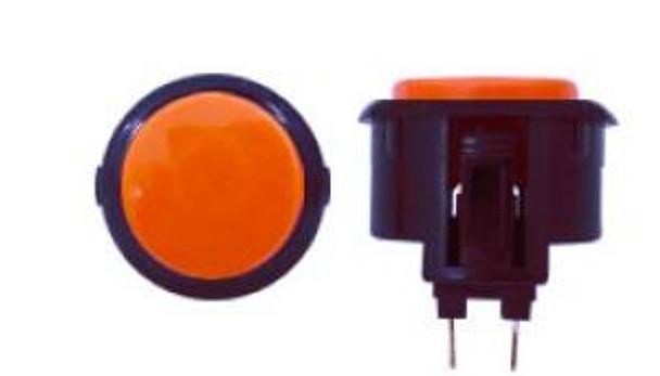 OBSF-30 BUTTON VERMILION/BLACK, 30-K Black Rim Arcade Buttons, VideoGamesNewYork, VGNY