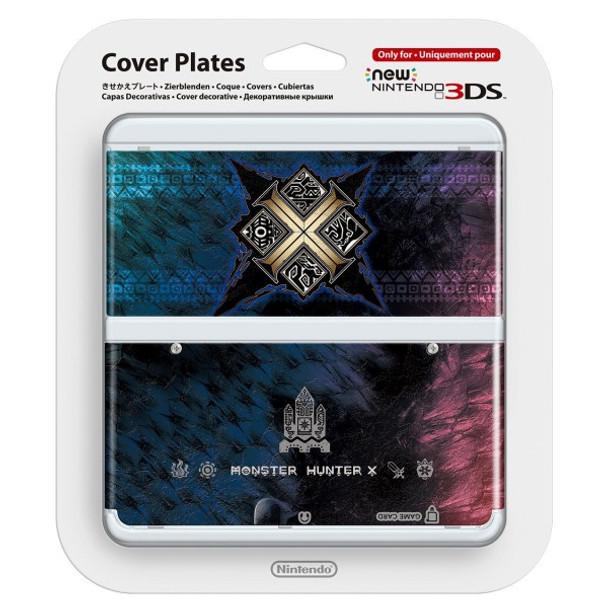 NEW NINTENDO 3DS COVER PLATES - N. 065 MONSTER HUNTER X / CROSS