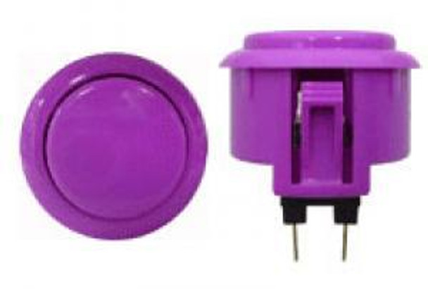 OBSF-30 BUTTON VIOLET, 30mm Solid Color Arcade Buttons, VideoGamesNewYork, VGNY