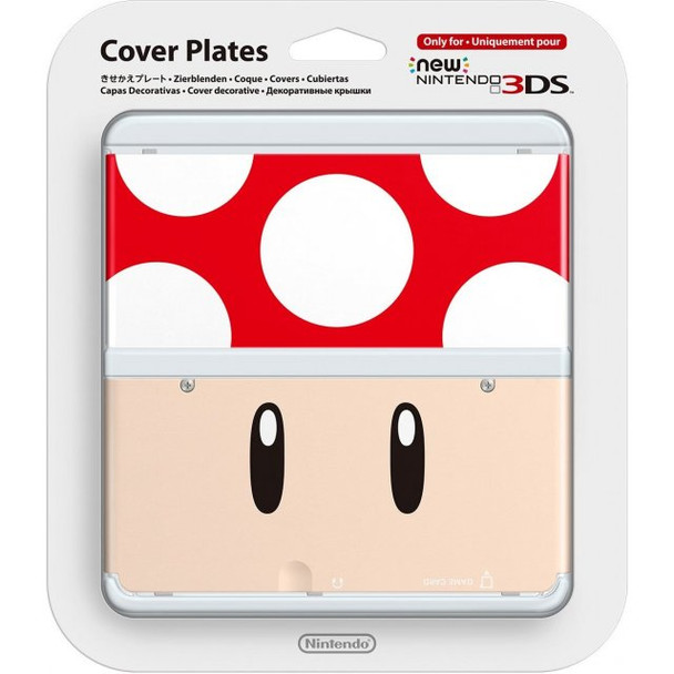 NEW NINTENDO 3DS COVER PLATES N. 019 (SUPER MUSHROOM)