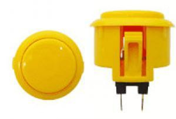 OBSF-30 BUTTON YELLOW, 30mm Solid Color Arcade Buttons, VideoGamesNewYork, VGNY
