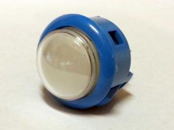 OBSF-30Q BLUE, 30mm Dome Button, Arcade Button, VideoGamesNewYork, VGNY