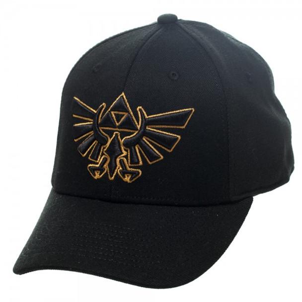 Nintendo Zelda Logo Black Flex Cap