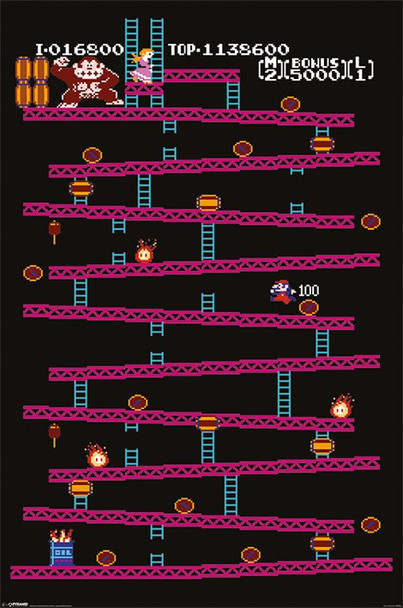Donkey Kong – Level 1 Poster