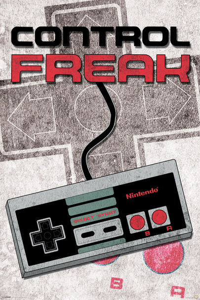 Nintendo - Control Freak Poster