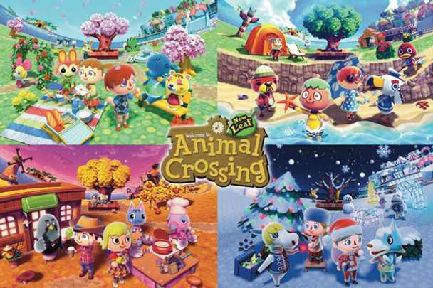 Animal Crossing – Four Seasons Poster