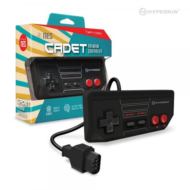 """""""Cadet"""" Premium Controller for NES (Black) - Hyperkin"""
